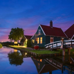 Blue night Zaanse Schans!