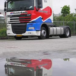 Vrachtwagen met weerpsiegeling