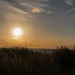 Zwevend zonsondergang