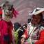 Peruaans vrouwtje met haar lama