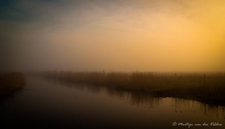 Ochtendmist - Mistige vroege ochtend in de Hoeksche Waard
