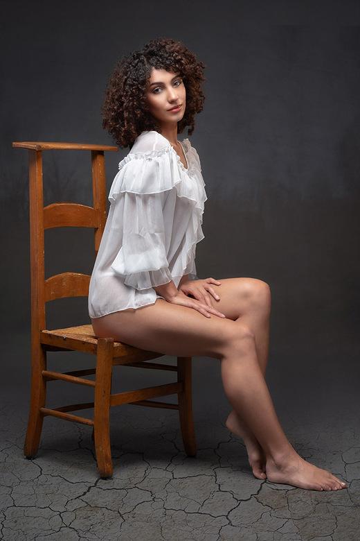 Antique Chair - model is Mischkah