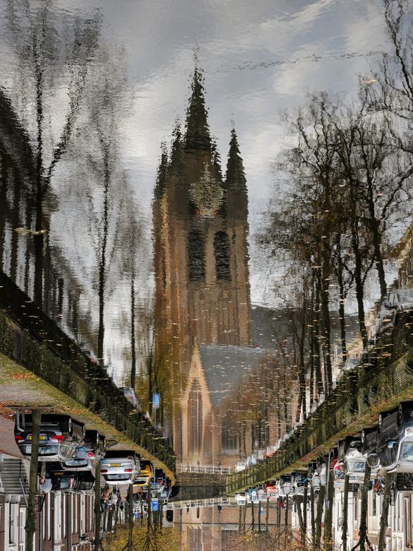 Oude Kerk (Scheve Jan) - op een windstille dag.