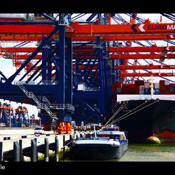 Container overslag Rotterdam