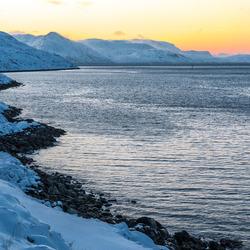 De Noorse kust bij Hammerfest