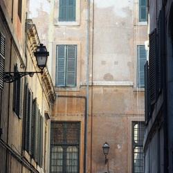 Straat doorkijk in Rome
