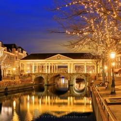 Winter evening Nieuwe Rijn Leiden