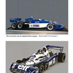Racewagens met  6  wielen (Oldtimers)