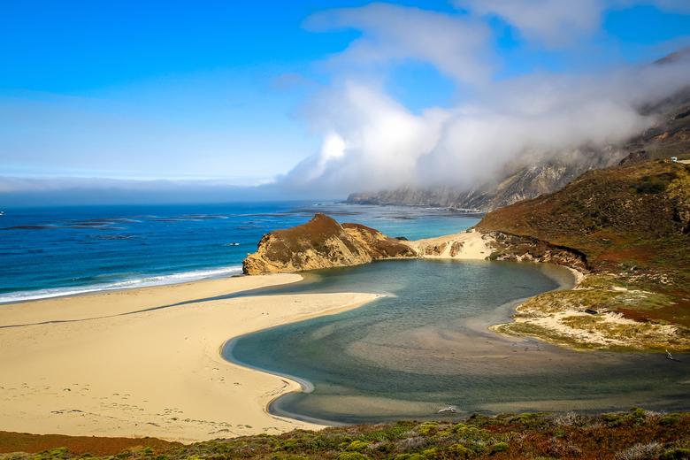 Pacific Ocean - Als je via de Highway 1 door California rijdt kom je langs mooie plekjes waar je een mooi zicht hebt op de pacific ocean.