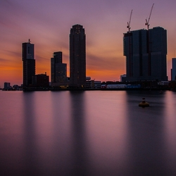 rijnhaven after sunset