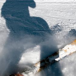 Zelfportret van een skiër