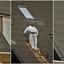 Asbest platen verwijderen op de steile voorkant.