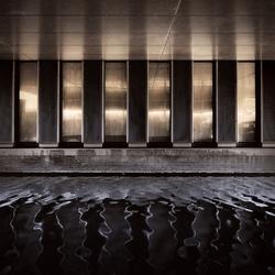 donkere reflectie