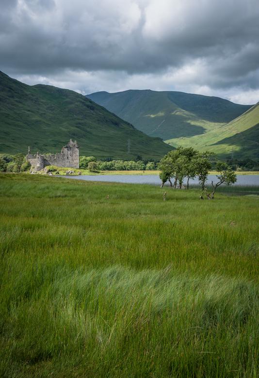 Highland Castle - Kilchurn Castle in het midden van de Highlands.