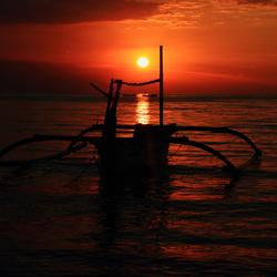 Sunset, Lovina (Bali, Indonesië)