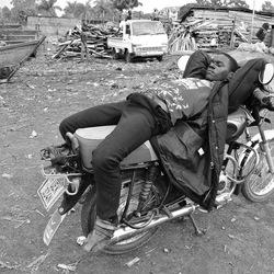 Entebbe,Victoria meer. Je zal maar slaap hebben!