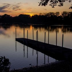 Dikkebusvijver zonsondergang
