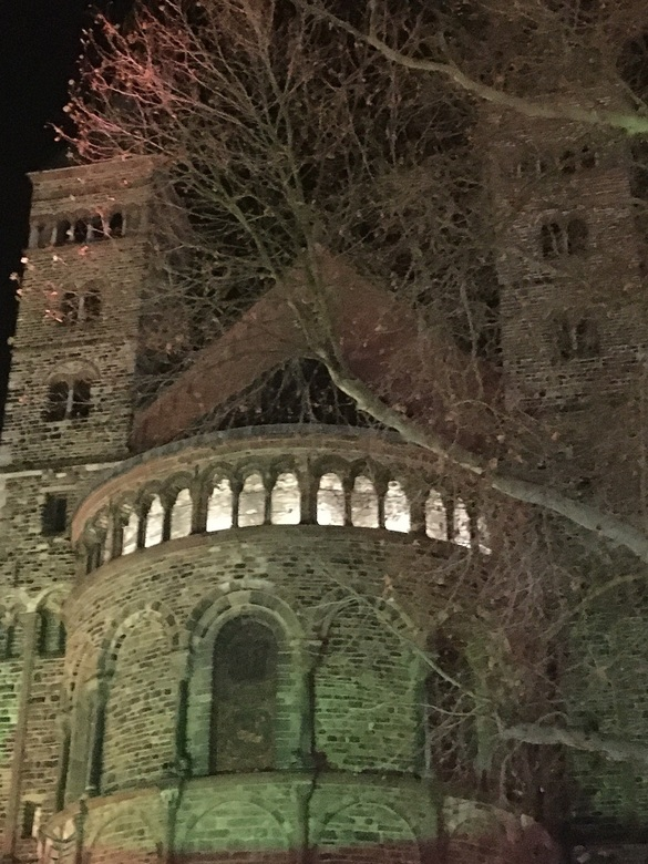 Maastricht by night. -