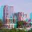 Uitzicht HNI Rotterdam 3D hyperanaglyph