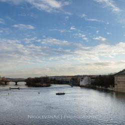Moldau Praag panorama.