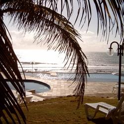 de opkomende zon in Natal Brazilie