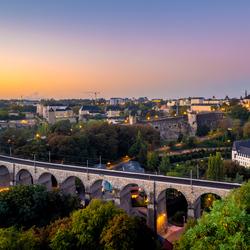 Luxemburg bij zonsopkomst
