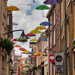Vrolijke straat Deventer