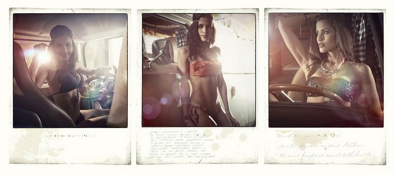 polaroids.  - Shoot gedaan voor Christine Le Duc in de studio
