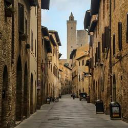 San Gimignano, 's ochtends vroeg