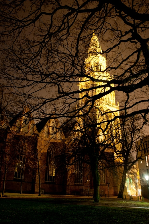 Martinitoren bij nacht - Martinitoren Groningen