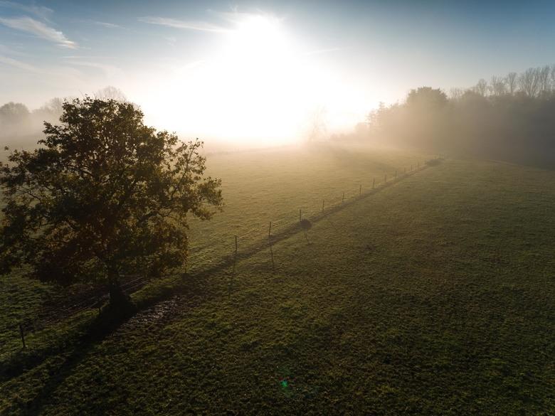 verdwijnende mist -