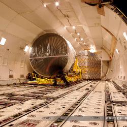 Straalmotor in een Boeing