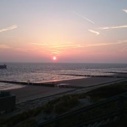 Strand Zoutelande Zonsondergang
