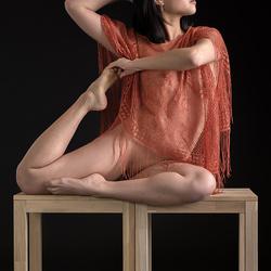 Minh-Li doing yoga