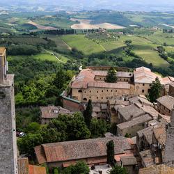 Prachtig uitzicht vanaf toren in San Gimignano
