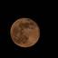 Maan op de avond na supermaan.
