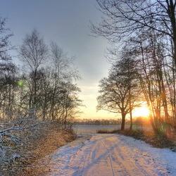 Winterse ochtend bij Vries