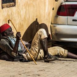 Oude man in Marrakech