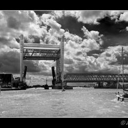 Dubbele brug bij Dordrecht 2