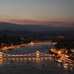Boedapest bij zonsondergang