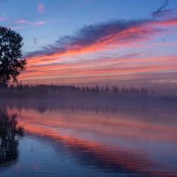 Mistige zonsopkomst stilte...genieten