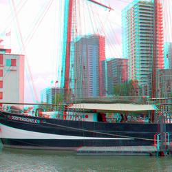 Zeilschip Oosterschelde in Leuvehaven Rotterdam 3D