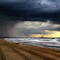Slecht weer aan de kust