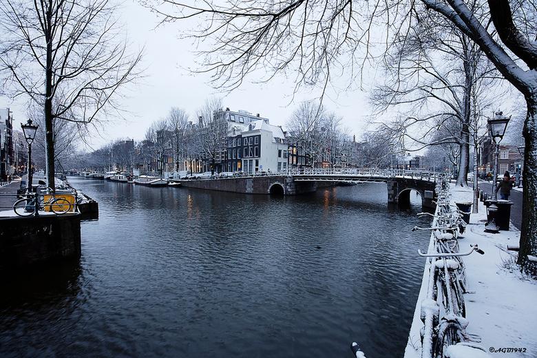 Amsterdam. - Sneeuw in Amsterdam.