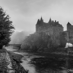 Castle black and white