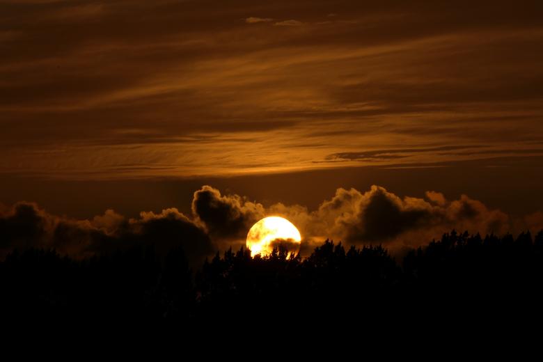 Ondergaande zon -