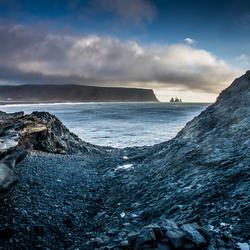 Uitzicht bij Vik, IJsland