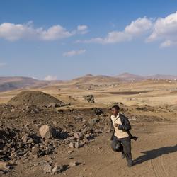 Op weg naar Semonkong (Lesotho)