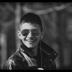 Ahmed in zwart wit