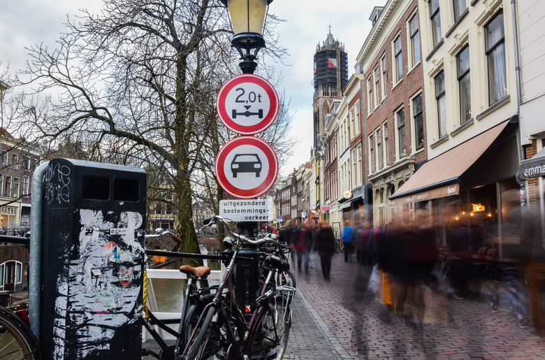 Long exposure Oudegracht Utrecht